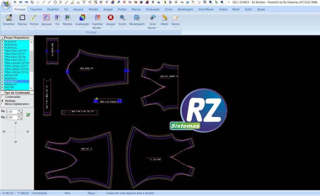 Modelagem de roupas no computador com Rz Cad Textil